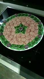 Large decorative footed dish