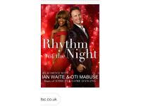 Rhythm of the Night - Ian and Oti tickets x 2