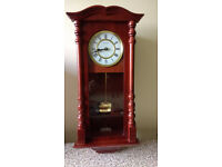 Pendulum Wall Clock in Mahogany