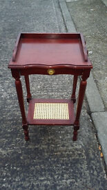 mahogany wood phone or hall stand with drawer at the top