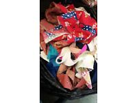 free fabric bits - some scraps some larger pieces inc linings