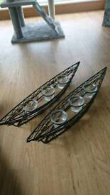 Metal/glass candle holders
