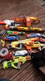 Nerf guns and accessories bundle