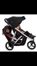 Phil and Teds Vibe double stroller.