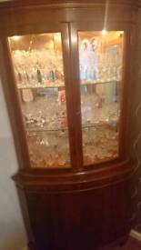 Solid wooden glass display cabinet