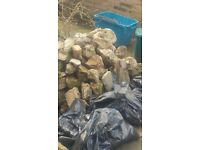 Rubble, concrete and bricks. Free to collect
