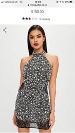 Missguided premium embellished dress size 8