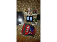 Nintendo 3ds boxed games and bag