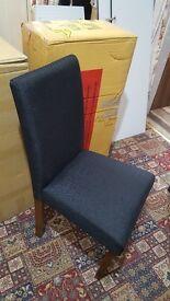 Brand new 4 black fabric chairs £150