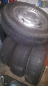 Ford transit alloy wheels x 4 originals