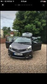 Toyota Yaris (14) metallic Grey 5dr d- icon excelleng condition female owner mot June 2018