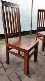 """4 x Dining Room Chairs - Very sturdy and well made - from the """"Toko Mango"""" range of mango hardwood"""