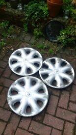 "3 x genuine Citroen 15"" wheel trims"