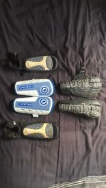 Chelsea and Mitre Football Pads and Umbro Goalie Gloves for Sale