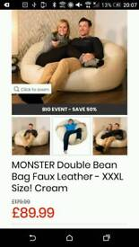 Large chair, luxury monster giant beanbag. Games room, dining room, kids room.