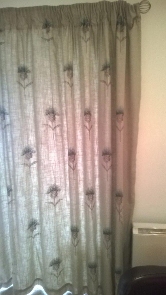 Thistle Pattern Curtains By Next In Currie Edinburgh