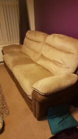 Reclining Sofa 3 Seater and Two Electric Singles