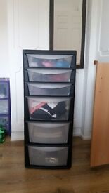 Plastic storage shelf sets of three