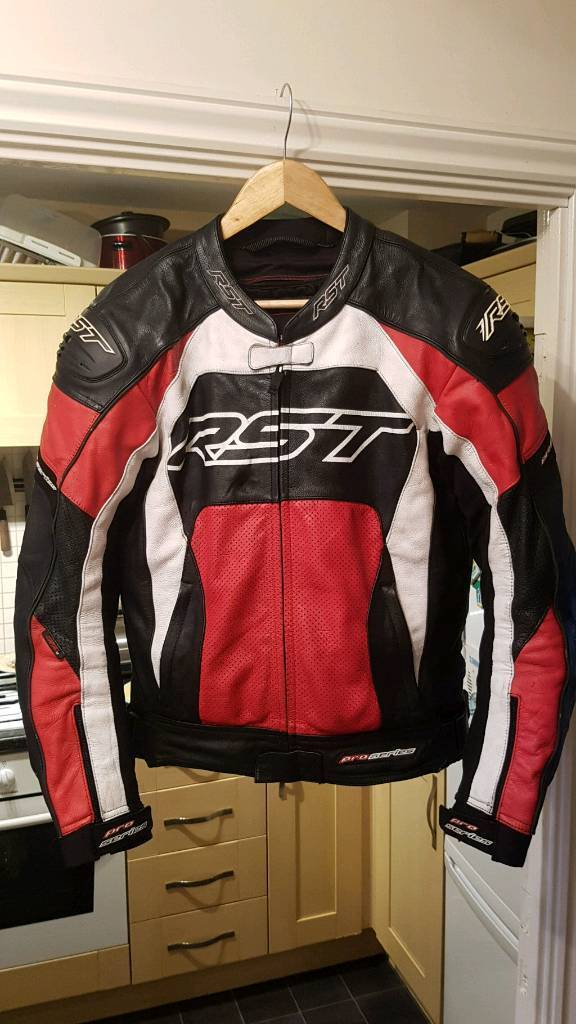 Rst pro series motorcycle leather jacket size 50
