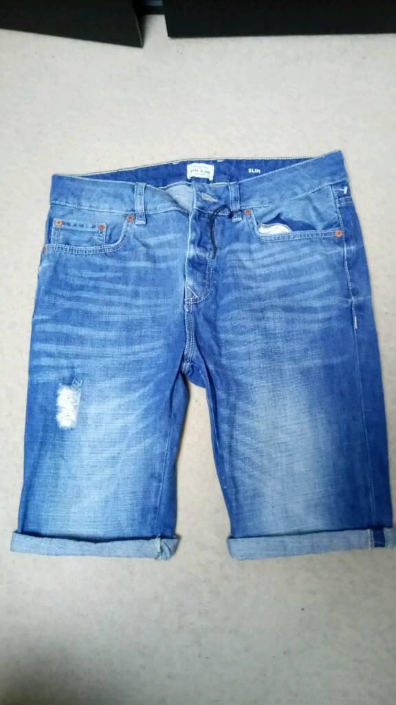 River Island Slim Fit Denim Jeans shorts