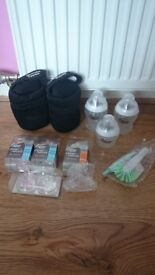 Thermal cover tommee tippee,3bottles not used,cleaning brush removable bottle teats all 15£