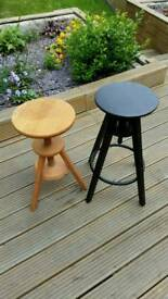 Two adjustable stools £5 each