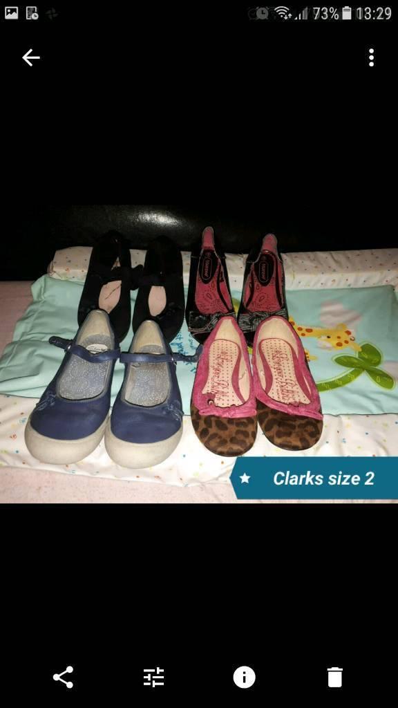Girls shoes bundle Clarks blue zoo size 2