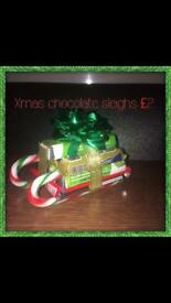 Chocolate candy sleigh