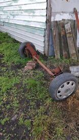 single wheel axle