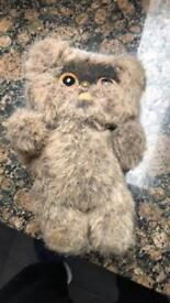 "Original 1983 Kenner ""Mookie The Ewok"" 9inch plush toy"