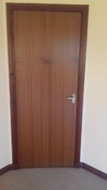 13 No. Brown sapele internal doors-FREE TO COLLECT