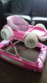 MyChild Coupe 2 In 1 Baby Walker and Rocker - Pink