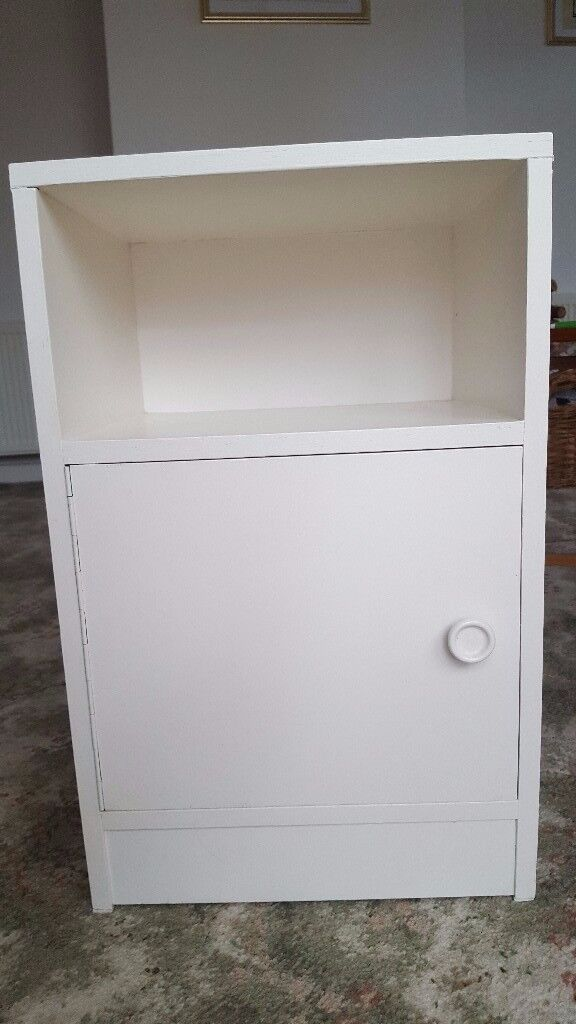 Small Bedside Cabinet White