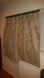 2 pairs of M&S curtains, light green/grey