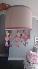 Hearts and Butterfly Girls Light Shade