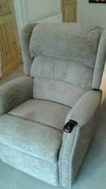 Reclining and rising chair, motorised.