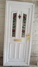 White used UPVC Door