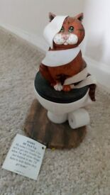 "Border Fine Arts Comic & Curious Cats ""All Tied Up"" Figurine"