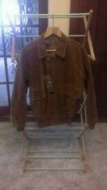 Mens GA Italian Textile Group Suede Jacket (Large) Still with original tags