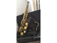 Sakkusu Tenor Sax with YAMAHA mouthpiece black