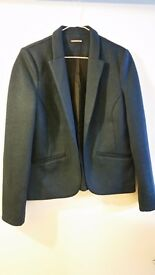 Warehouse ladies navy jersey blazer size 10