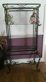 Metal glass cabinet