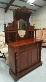 Victorian mahogany dresser with key around 5ft 11 tall and in vgc for age can deliver 07808222995