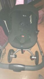 Silvercross Surf Pram/Buggy & Car Seat 9 months old in good condition