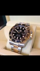 Men's Rolex Submariner Date Stainless Steel 40mm Black 16610 Box + Papers