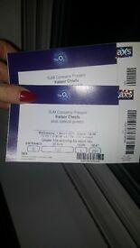 2x Kaiser Chiefs tickets. 02 London 1st March