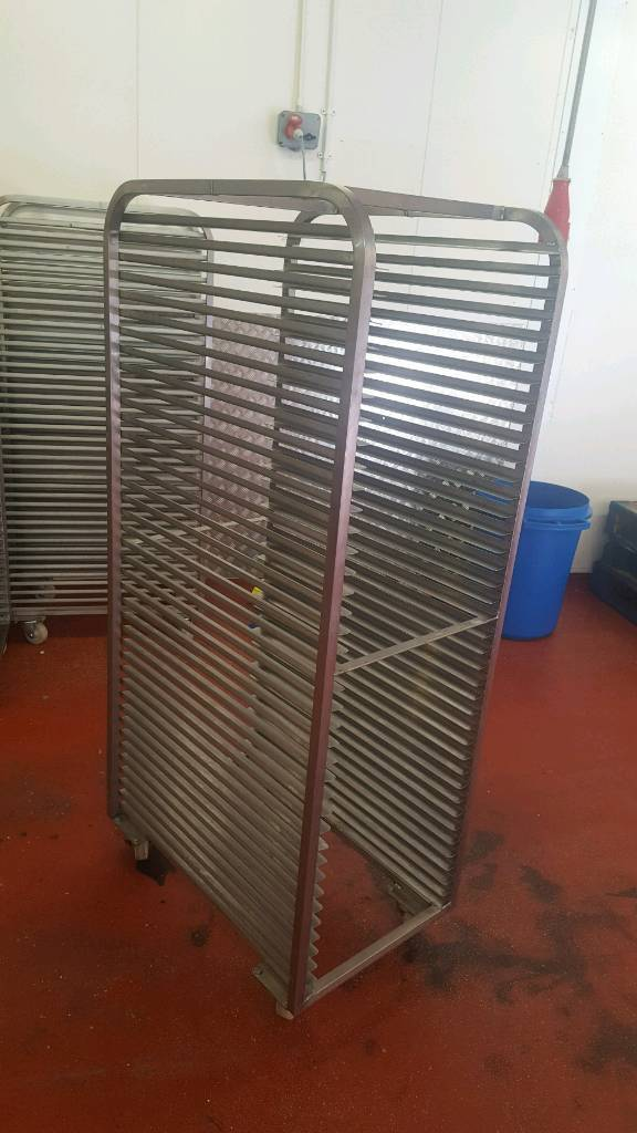 Bakery equipment. Stainless steel bakery racks.