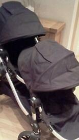 Baby Jogger city select Double Ony stroller BLACK £160