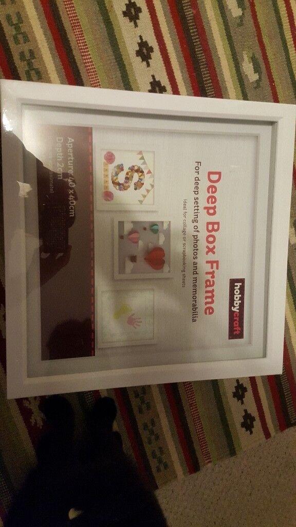 2899578614b Hobbycraft New White Deep Box Frame In Brighton East Sussex Gumtree