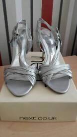 Ladies Next silver shoes size 5